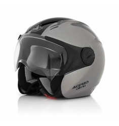 CASCO ACERBIS XJET STRIPES PLATA