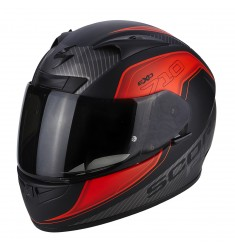 CASCO SCORPION EXO-710 MUGELLO NEGRO/ROJO MATE