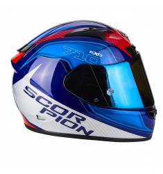 CASCO SCORPION EXO-710 MUGELLO AZUL/BLANCO