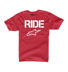 CAMISETA ALPINESTARS RIDE SOLID ROJA