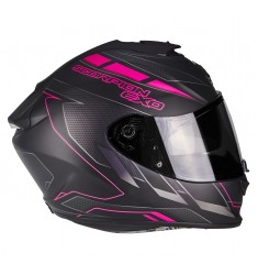 CASCO SCORPION EXO-1400 CUP NG/ROSA MATE
