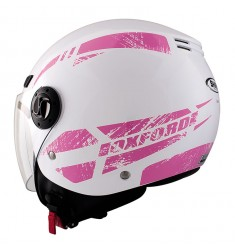 CASCO SHIRO SH-62 OXFORD BLANCO/ROSA