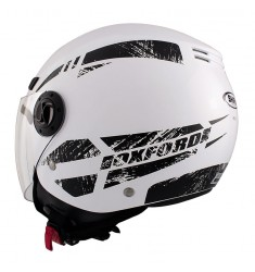 CASCO SHIRO SH-62 OXFORD BLANCO/NEGRO
