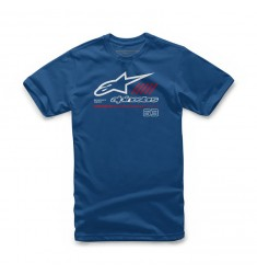 CAMISETA ALPINESTARS JUNIOR STRAT BLUE