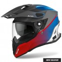 CASCO AIROH COMMANDER PROGRESS RED/BLUE MATT